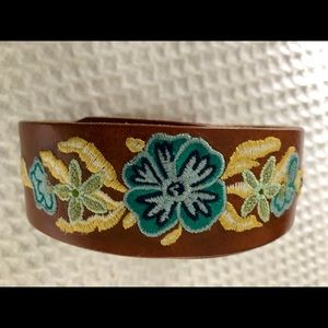 Brave Accessories - Brave Embroidered Leather Belt